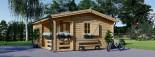 Casa in legno coibentata NANTES 24 mq + 3.45 mq di porticato visualization 7