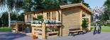 Casa in legno ALTURA (44 mm) 31 mq + terrazza 9.2 mq  visualization 4
