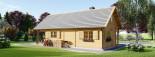 Casa in legno coibentata AURA 100 mq + 35 mq di porticato visualization 6
