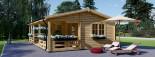 Casa in legno AMELIA (44 mm) 32 mq + 20 mq di porticato visualization 8