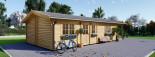 Casa in legno LINCOLN (66 mm) 60 mq + 10 mq di porticato visualization 5