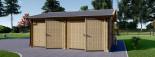 Garage in legno doppio ALTERNATIVE (44 mm) 6x6 m visualization 4