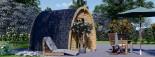 Casetta da giardino BRETA (28 mm) 3x3 m 9 mq visualization 2
