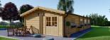 Casa in legno coibentata BRIGHTON 90 mq visualization 4