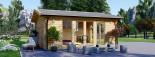 Casetta in legno da giardino MIA (44+44 mm, coibentata), 5.5x5.5 m, 30 mq visualization 7