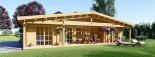 Casa in legno coibentata RIVIERA 100 mq + 20 mq di porticato visualization 2