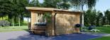 Casetta da giardino a tetto piatto LILLE (34 mm) 4x3 m 12 mq visualization 3