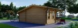 Casetta in legno ISLA (44 mm) 18 mq + 7 mq di porticato visualization 4
