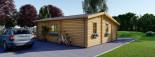 Casa in legno DIJON (44 mm) 44 mq visualization 4