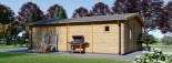 Casa in legno MARINA (44 mm) 8x6 m 48 mq visualization 5
