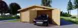 Garage in legno doppio (44 mm) 6x9 m visualization 4