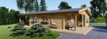 Casa in legno coibentata LINDA 78 mq + terrazza 38 mq  visualization 2