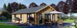 Casa in legno coibentata GRETA 54 mq visualization 5