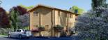Casa in legno TOULOUSE (66 mm) 100 mq + 20 mq di porticato visualization 6