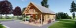 Casa in legno coibentata AURA 100 mq + 35 mq di porticato visualization 4