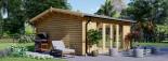 Casetta in legno da giardino MIA (44+44 mm, coibentata), 5.5x5.5 m, 30 mq visualization 6