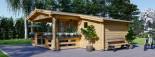 Casetta da giardino ISLA (66 mm) 18 mq + 7 mq di porticato visualization 6