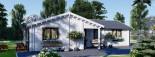 Casa in legno coibentata ADELE 68 mq visualization 5