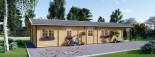 Casa in legno AVON (66 mm) 78 mq + 11.5 mq di porticato visualization 5
