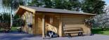 Casetta in legno CLARA con tettoia integrata (44 mm) 7x4 m 28 mq visualization 2