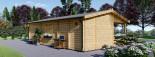 Casa in legno AMELIA (44 mm) 32 mq + 20 mq di porticato visualization 6