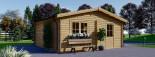 Garage in legno doppio ALTERNATIVE (44 mm) 6x6 m visualization 7