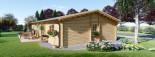 Casa in legno coibentata LIMOGES 103 mq visualization 5