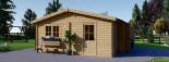Garage in legno doppio ALTERNATIVE (44 mm) 6x6 m visualization 6