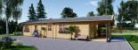 Casa in legno AVON (66 mm) 78 mq + 11.5 mq di porticato visualization 6