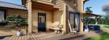Casa in legno HOLLAND (66 mm) 113 mq + 13.25 di porticato visualization 9
