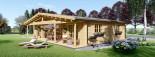 Casa in legno coibentata RIVIERA 100 mq + 20 mq di porticato visualization 4