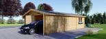 Garage in legno doppio (44 mm) 6x9 m visualization 5