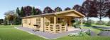 Casa in legno coibentata DONNA 63 mq + 11.5 mq di porticato visualization 3
