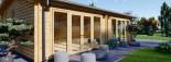 Casa in legno MARINA (44 mm) 8x6 m 48 mq visualization 8