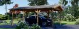 Tettoia auto in legno CLASSIC 3x6 m visualization 2