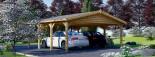 Tettoia auto in legno doppia CLASSIC 6x6 m visualization 4