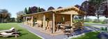 Casa in legno TOSCANA (66 mm) 53 mq + 29 mq di porticato visualization 1