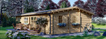 Casa in legno coibentata UZES 70 mq visualization 6