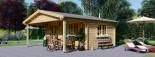 Casetta da giardino CAMILA (44 mm) 6x4 m 24 mq + 11 mq di porticato visualization 1