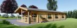 Casa in legno AVON (66 mm) 78 mq + 11.5 mq di porticato visualization 3