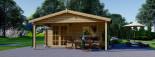 Casetta da giardino CAMILA (66 mm) 6x4 m 24 mq + 11 mq di porticato visualization 2