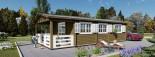 Casa in legno HYMER (66 mm) 42 mq + 10 mq di porticato visualization 9