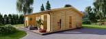 Casa in legno MILA (44 mm) 56 mq visualization 2
