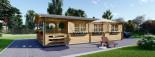 Casa in legno HYMER (66 mm) 42 mq + 10 mq di porticato visualization 3