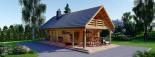 Casa in legno coibentata AURA 100 mq + 35 mq di porticato visualization 2