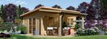 Casetta da giardino HELEN (44 mm) 24 mq + terrazza 12.5 mq visualization 1