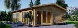 Casa in legno MARINA (44 mm) 8x6 m 48 mq visualization 7