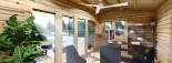 Casetta in legno TINA 5.5x5 m 22 mq + 5.5 mq di porticato visualization 10
