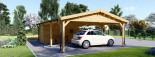 Tettoia auto in legno + ripostiglio attrezzi (44 mm) 6x7.75 m visualization 8