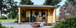 Casetta in legno TINA 5.5x5 m 22 mq + 5.5 mq di porticato visualization 1